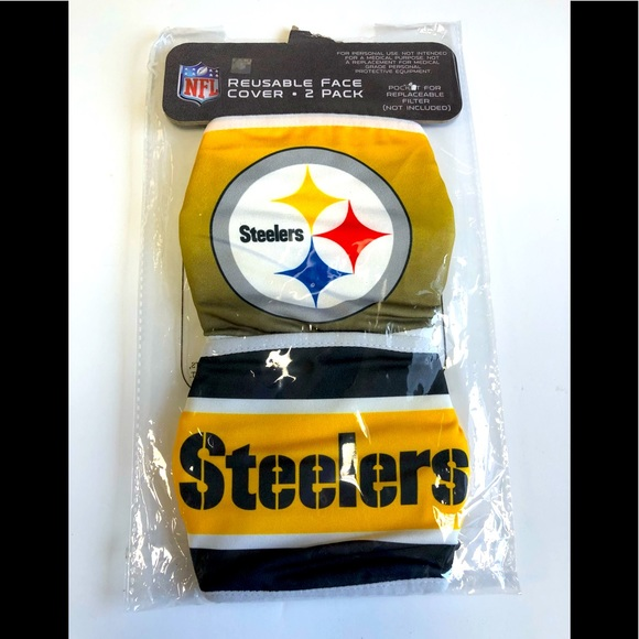 Pittsburgh Steelers 2-pack Face Masks